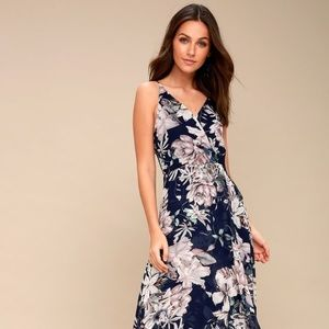 Something Just Like This Navy Floral maxi Dress